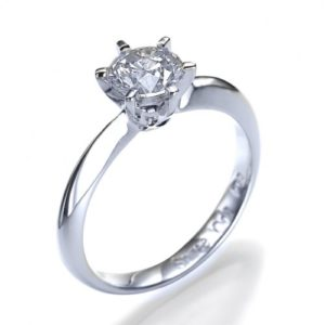 6 Prong Classico Diamond Engagement Ring