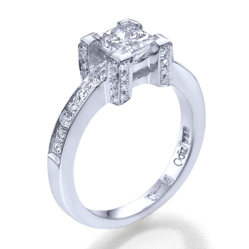 Snow Queen Diamond Engagement Ring