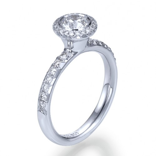 Snowflake Diamond Engagement Ring