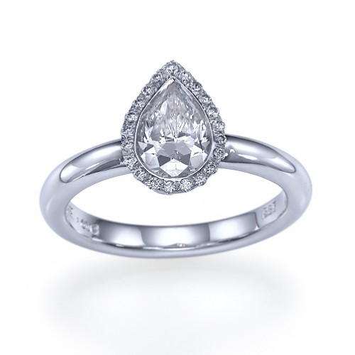 2 carat Pear Star Diamond Engagement Ring