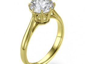 Bouquet Diamond Solitaire Engagement Ring