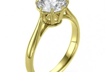 Bouquet Diamond Solitaire Engagement Ring