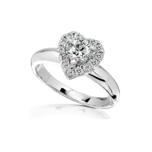 Heart Cut Diamond Engagement Rings