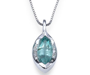 Marquise Emerald And Diamond Pendant