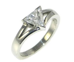 Trilliant Cut Diamond Engagement Rings