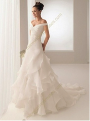 Beading Satin Ruffles Wedding Dress