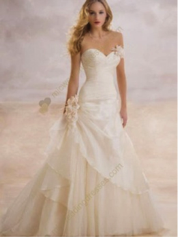 Line Sweetheart Floor Length Satin Wedding Dress