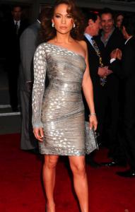 Silvery gray dress