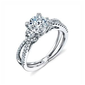 Simon G. Amethyst Diamond Ring
