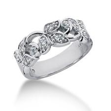 Diamond Leaf Pattern Ring