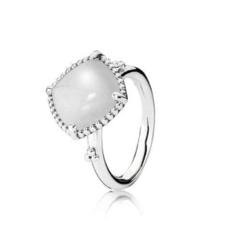 Silver & White Quartzite Ring