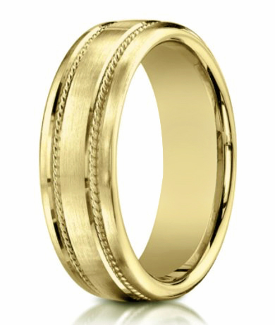 Men's 18K Yellow Gold Wedding Ring