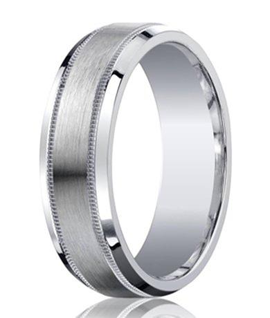 Designer Argentium Silver Men's Ring