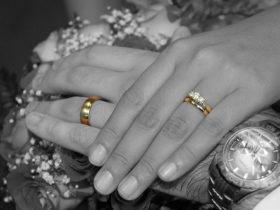 Wedding ceremony ring exchange