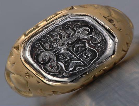 Antique Signet Rings- French Art Nouveau