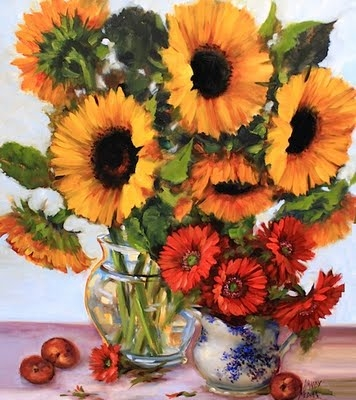 Sunflowers and Gerbera Daisies
