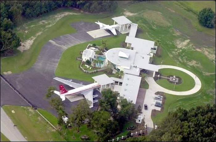 John Travolta Home Top View