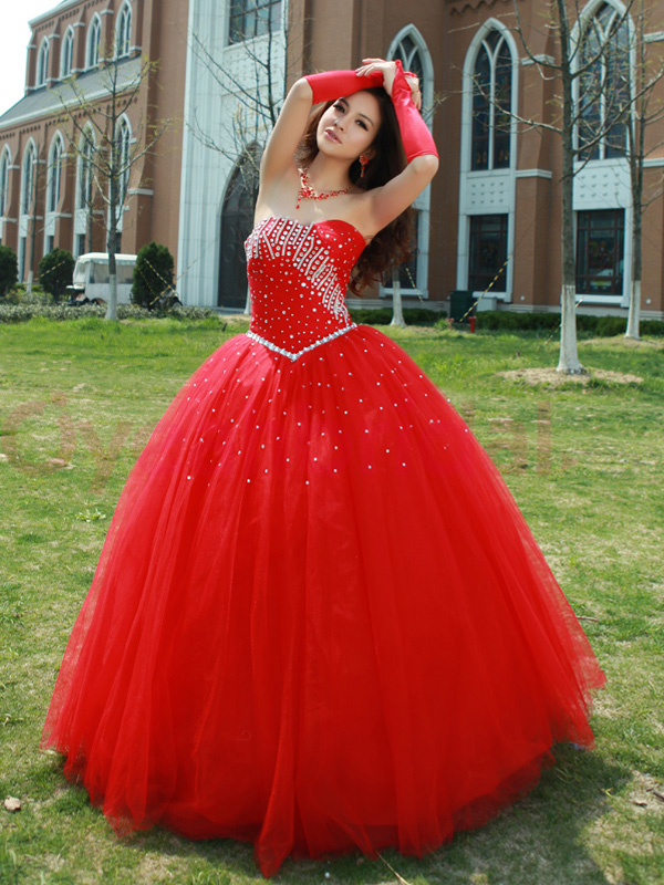 Quinceanera Gown Red