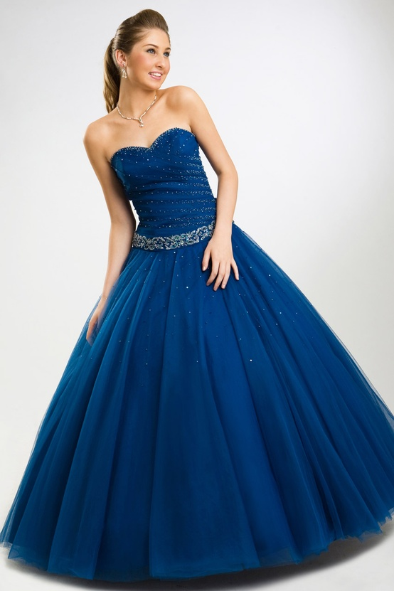 Quinceanera Gown Royal Blue