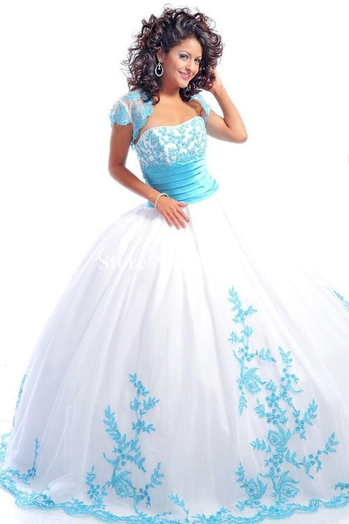 Quinceanera Gown white