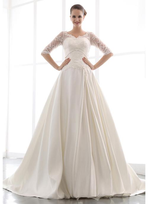 Triangle shape wedding dresses