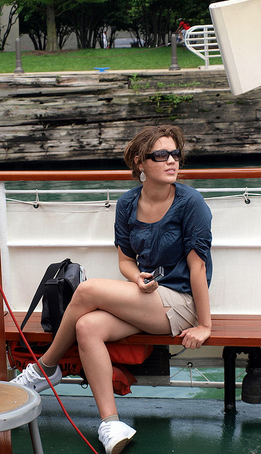 Girl on a boat tour by mindaugas danys