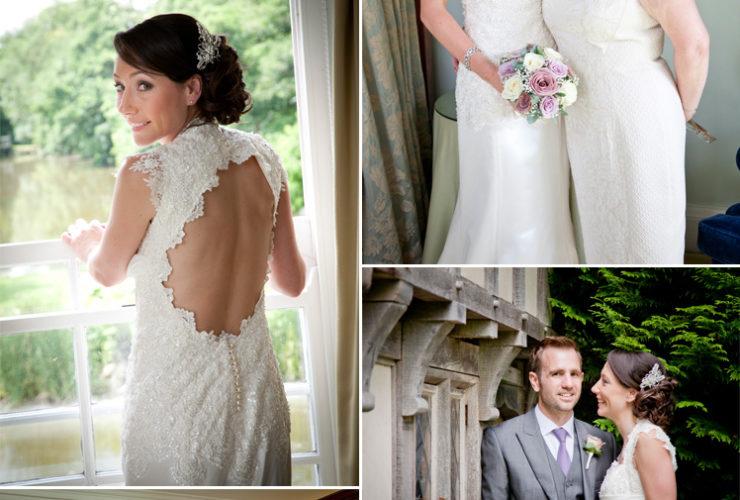 Lace sleeved wedding dress