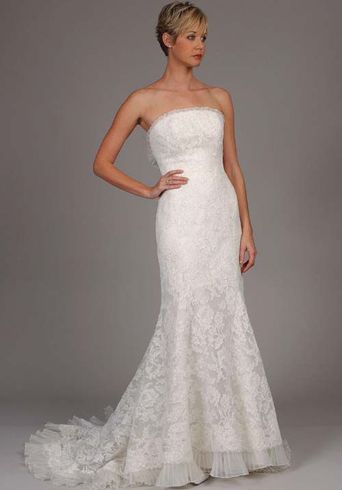 tall women wedding dress