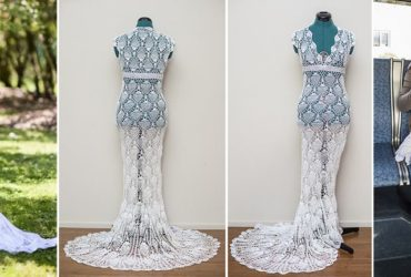 Crafty Bride Made Her Wedding Dress