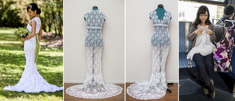 Crafty Bride Made Her Wedding Dress