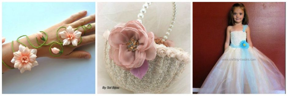 DIY Flower Girl Accessories