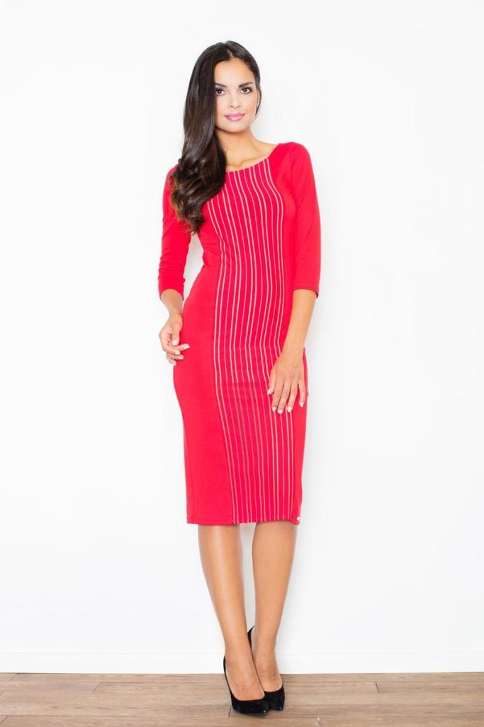 For Office Parties- A-line Midi Dress