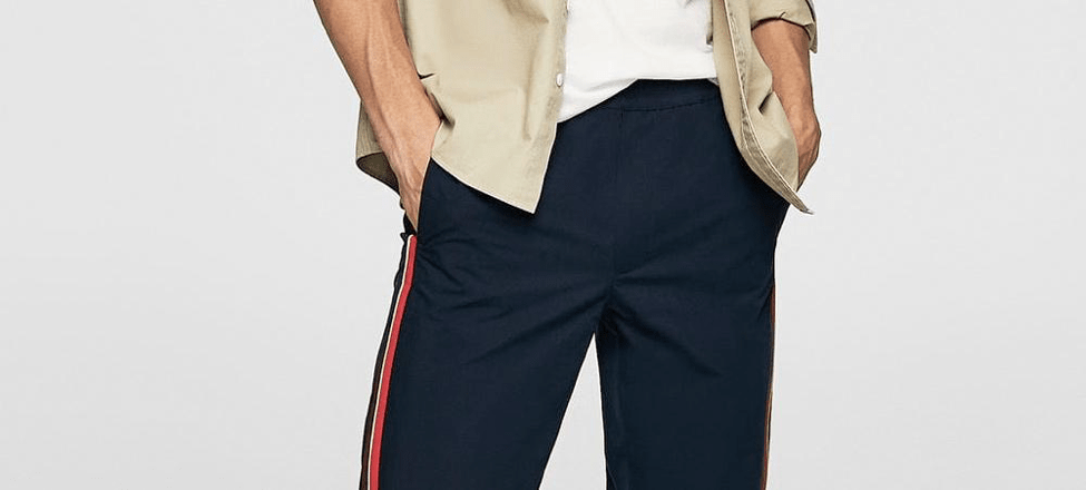 Side-Stripe Trousers