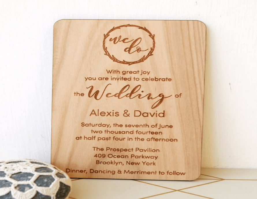 Engraved Invites
