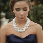 Wearing Pearls Necklace