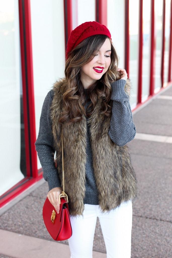 Opt for a Faux Fur Vest Faux Fur