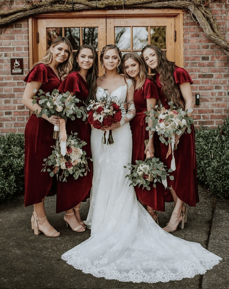 Flower Face bouquets Wedding Party Photo