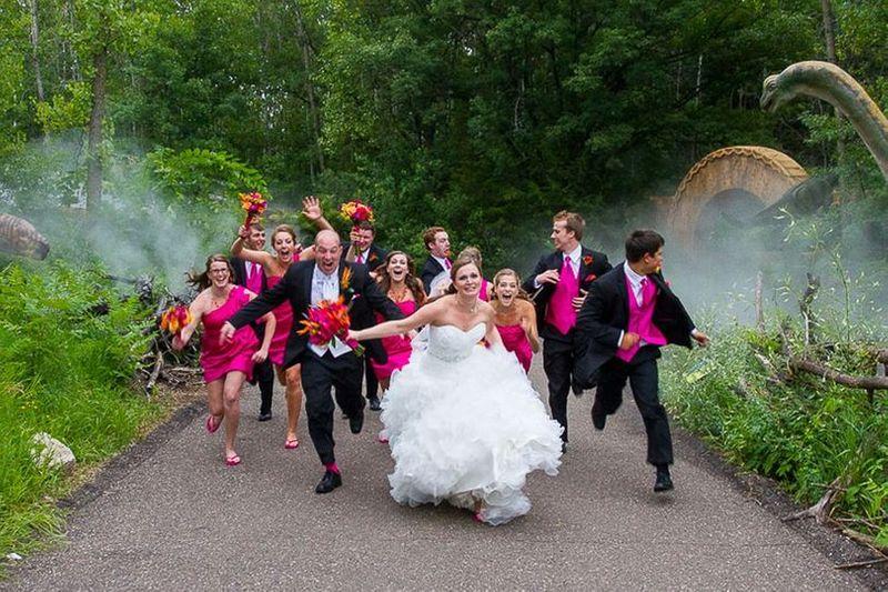 Running Wedding Photo