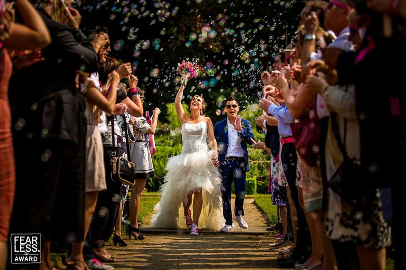 Sentimental Close-up Wedding Party Photo