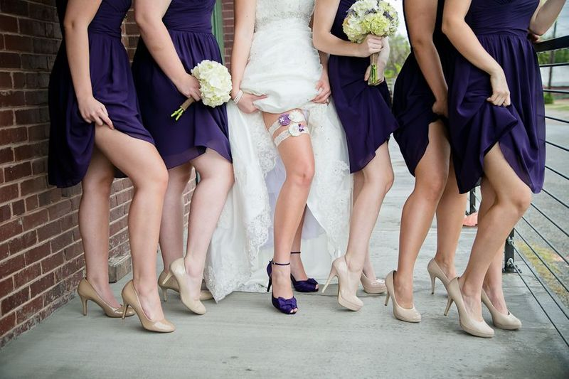 Shoe Show Off Wedding Party Photo