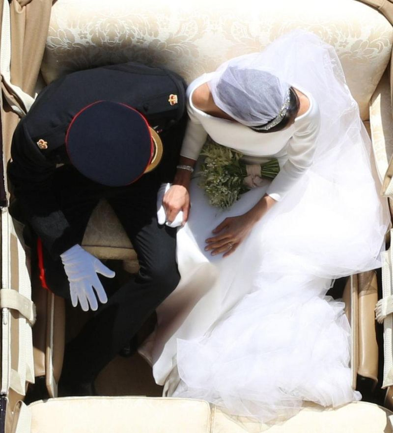 harry and meghan from above Overhead Wedding Photo