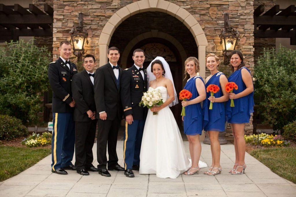 military wedding colors