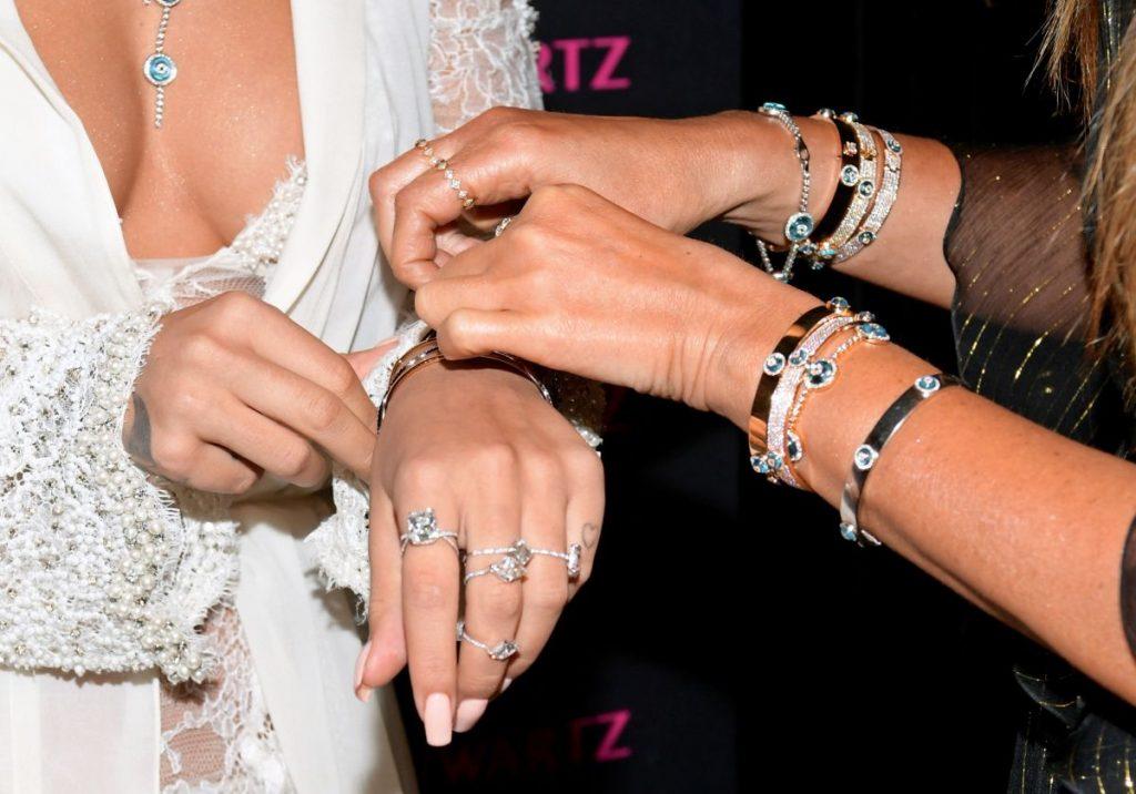 Bracelets on Both Wrists