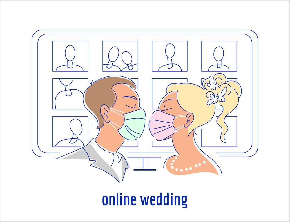 Virtual Weddings Are Less Stressful