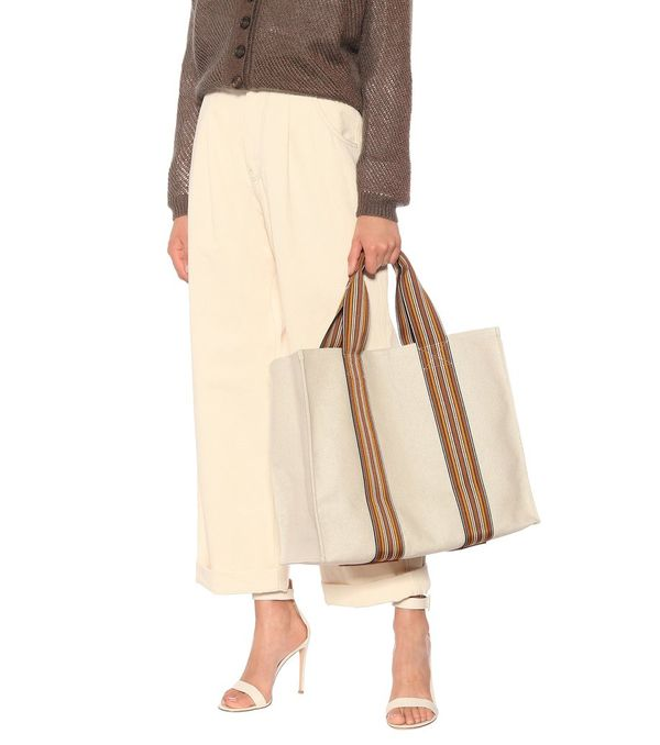 Loro Piana Suitcase Stripe Totes fashion