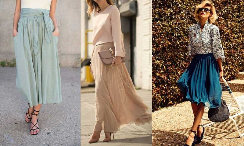 Midi Skirt Women Fashion 2021