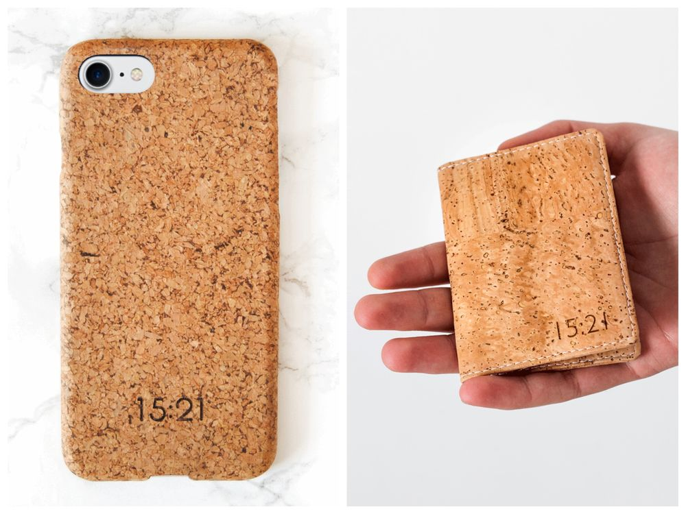 Cork Leather Phone Case and Wallet