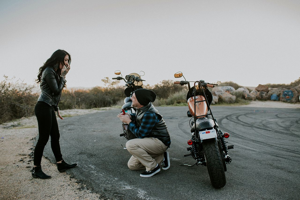Motorcycle Marriage Proposal