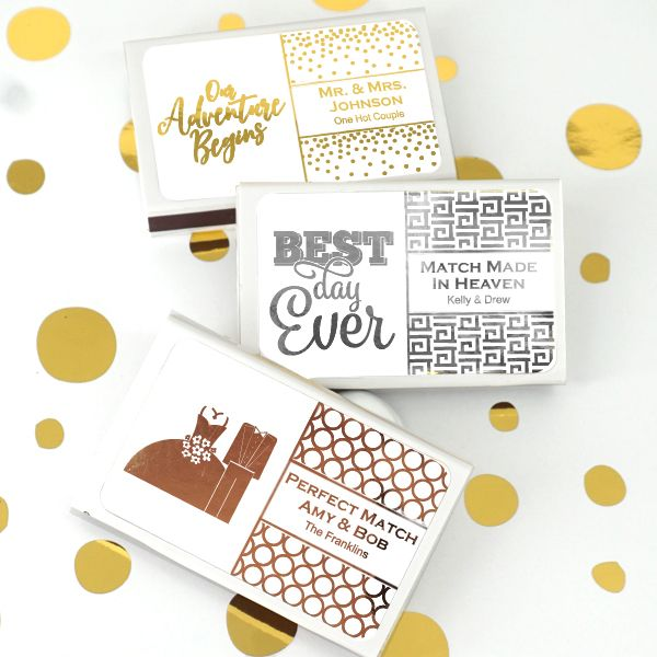Personalized Metallic Foiled Matches