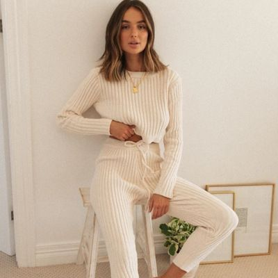 The Lined Cotton Loungewear Set